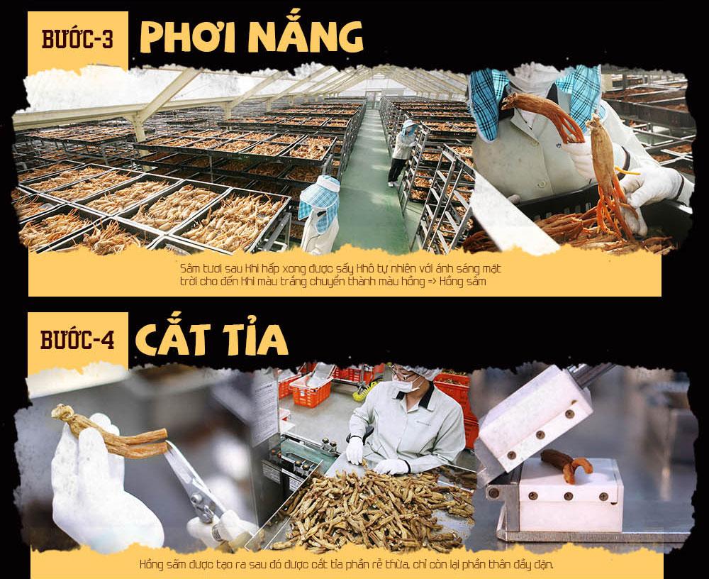 Quy trình sản xuất viên hồng sâm Hàn Quốc 3
