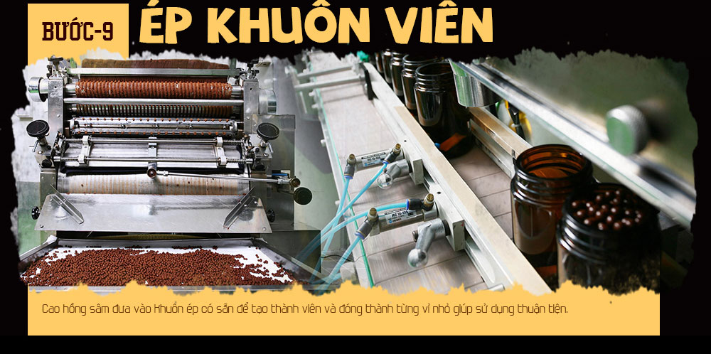 Quy trình sản xuất viên hồng sâm Hàn Quốc 5