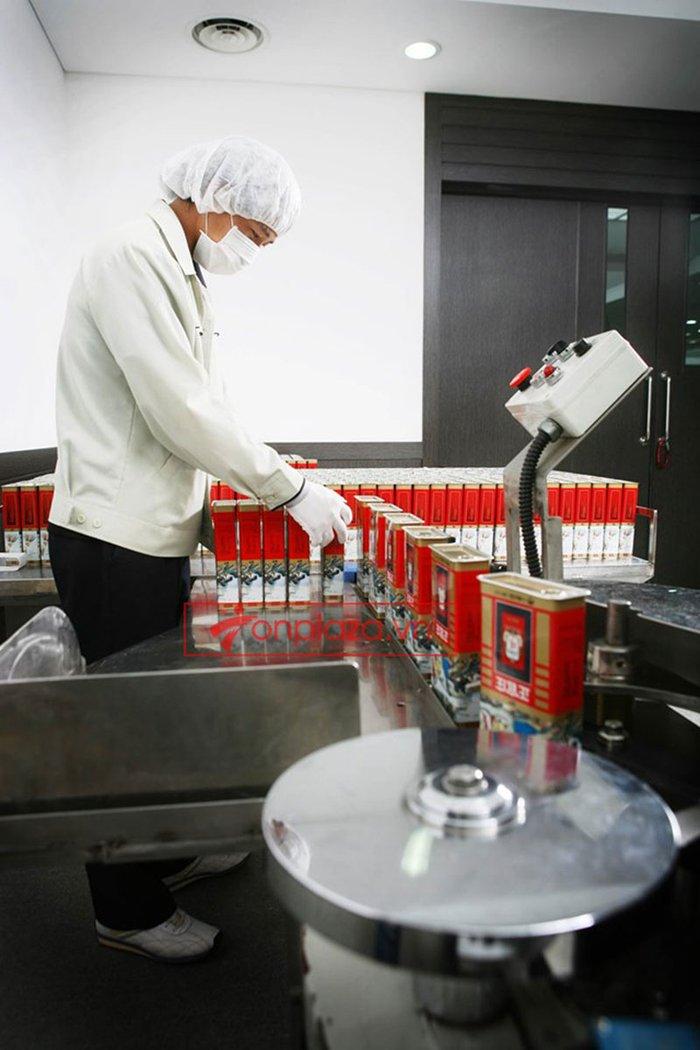 một sô hình ảnh trong quá trình chế biến và sản xuất hồng sâm chính phủ kgc hôp thiếc 6