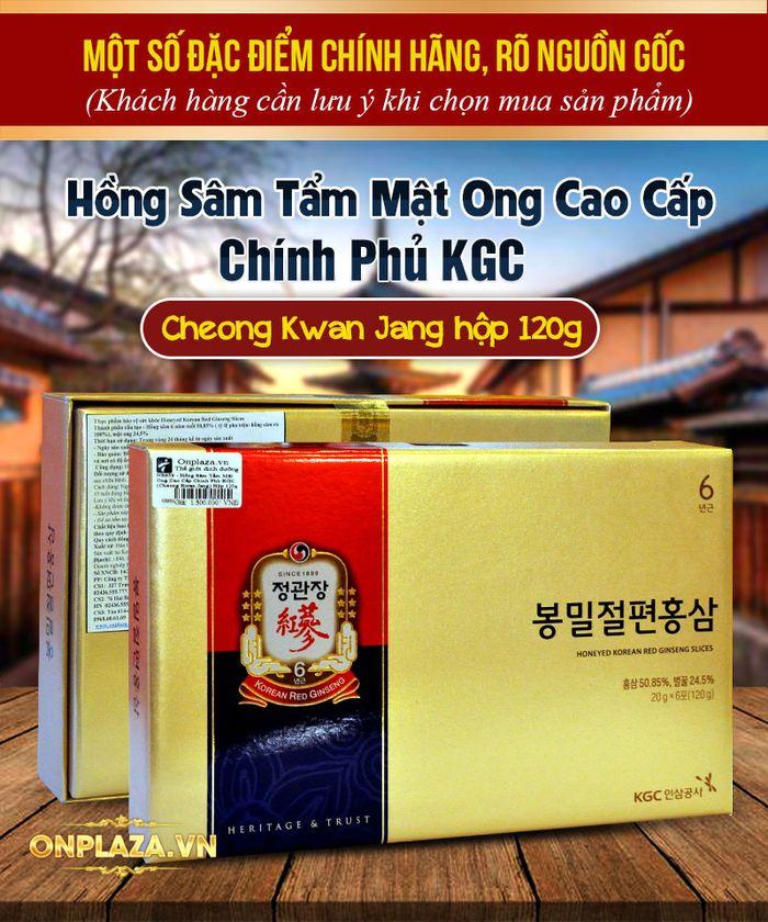 Hồng sâm tẩm mật ong cao cấp chính phủ KGC (Cheong Kwan Jang) hộp 120g NS659 1