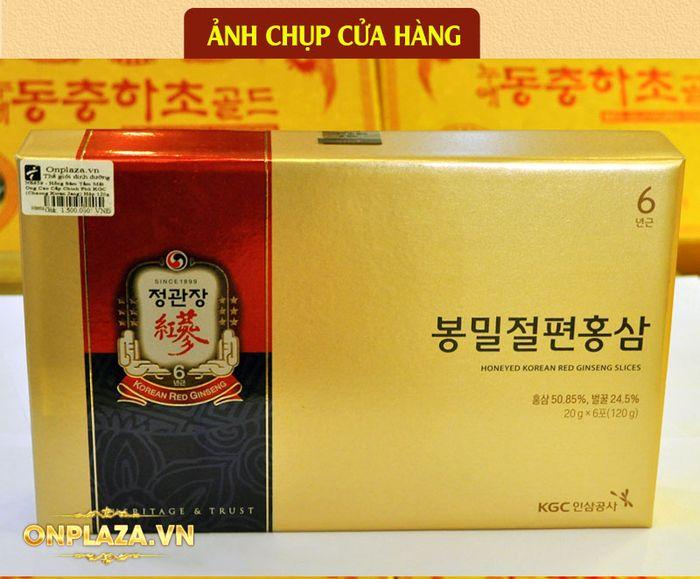 Hồng sâm tẩm mật ong cao cấp chính phủ KGC (Cheong Kwan Jang) hộp 120g NS659 6