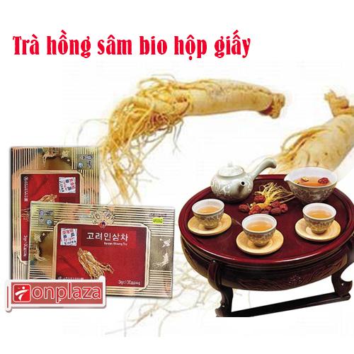 Sản phẩm trà hồng sâm Bio hộp giấy Hàn Quốc chiếc 100 gói