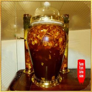 Sâm Ngọc Linh và đông trùng hạ thảo ngâm mật ong bình 7lít NO.12 NS672