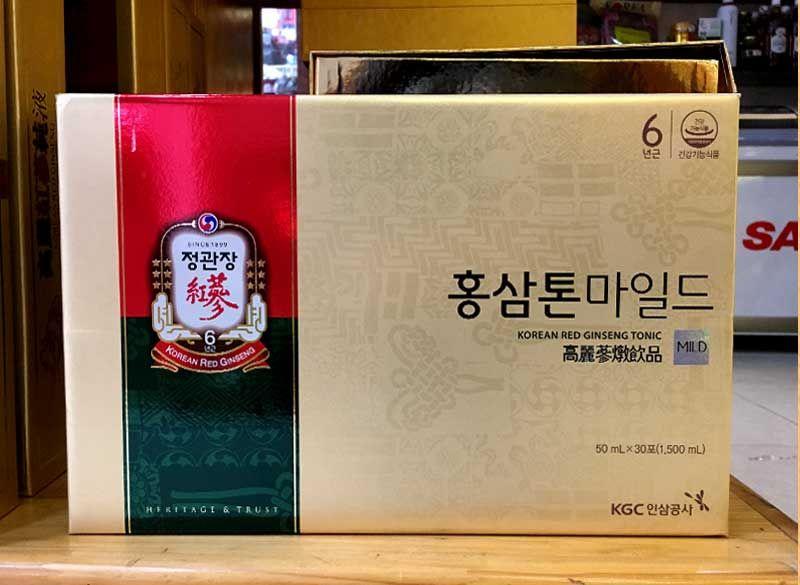 Nước Uống Hồng Sâm Trẻ Em Cao Cấp Chính Phủ KGC (Cheong Kwan Jang) Tonic Mild Hộp 30 Gói NS635 5