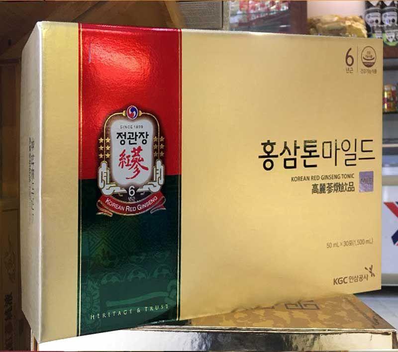 Nước Uống Hồng Sâm Trẻ Em Cao Cấp Chính Phủ KGC (Cheong Kwan Jang) Tonic Mild Hộp 30 Gói NS635 6