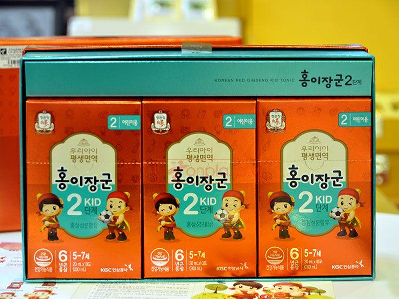 Nước hồng sâm trẻ em cao cấp KGC Cheong Kwan Jang Baby Tonic Step 2 cho bé 5-7 tuổi NS676 5