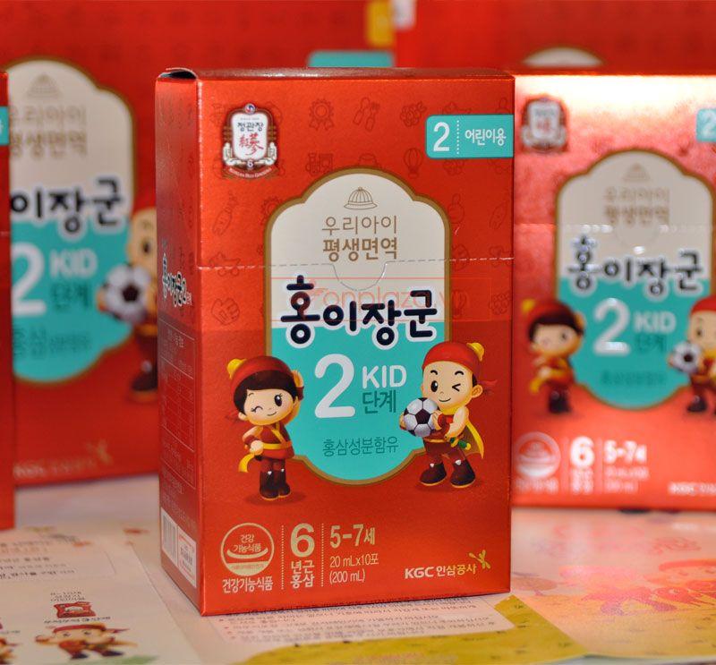 Nước hồng sâm trẻ em cao cấp KGC Cheong Kwan Jang Baby Tonic Step 2 cho bé 5-7 tuổi NS676 6