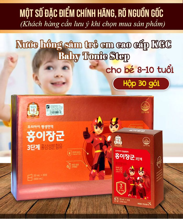 Nước hồng sâm trẻ em cao cấp Baby Tonic Step KGC 8-10 tuổi NS677 1