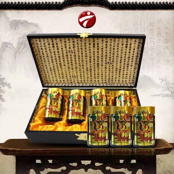 Cao hồng sâm Kanghwa cao cấp hộp gỗ quà biếu loại 4 lọ/hộp NS391