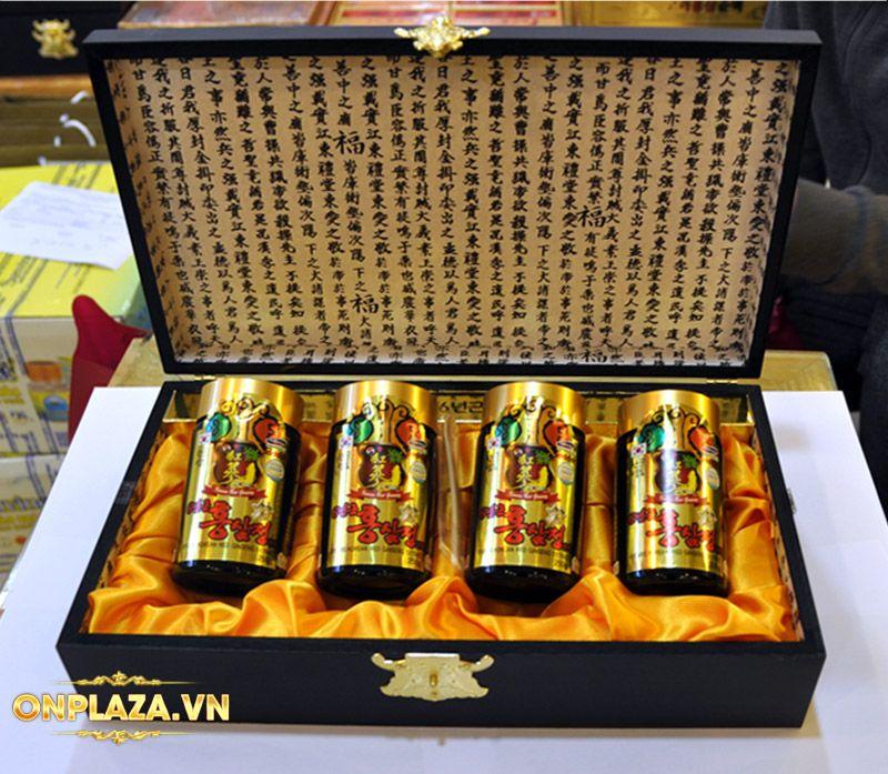 Cao hồng sâm Kanghwa cao cấp hộp gỗ quà biếu loại 4 lọ/hộp NS391 4