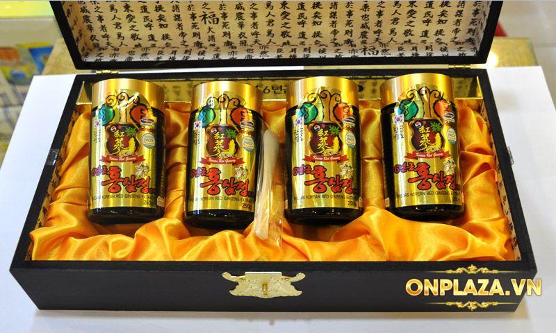 Cao hồng sâm Kanghwa cao cấp hộp gỗ quà biếu loại 4 lọ/hộp NS391 10