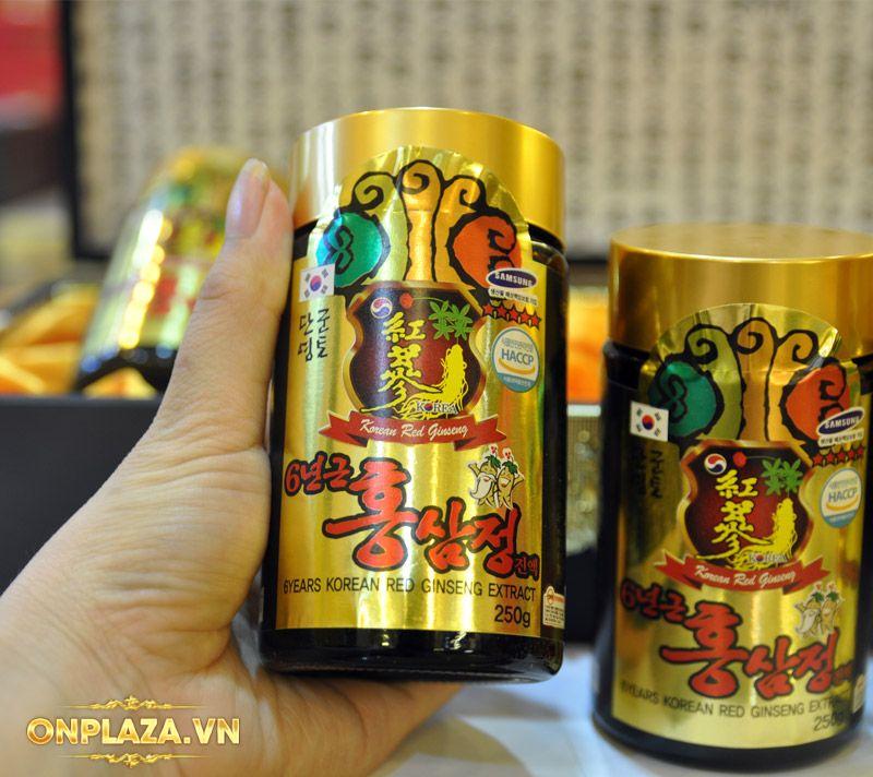 Cao hồng sâm Kanghwa cao cấp hộp gỗ quà biếu loại 4 lọ/hộp NS391 11