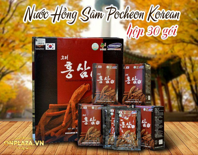 Nước hồng sâm Pocheon Korean Drink cao cấp hộp 30 gói NS838 1