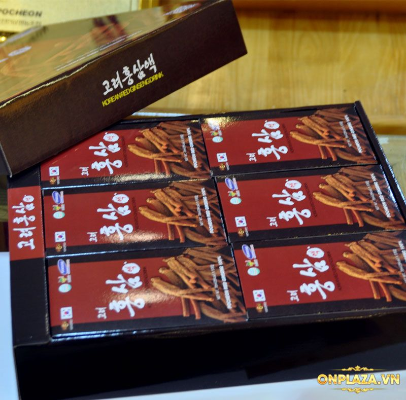 Nước hồng sâm Pocheon Korean Drink cao cấp hộp 30 gói NS838 5