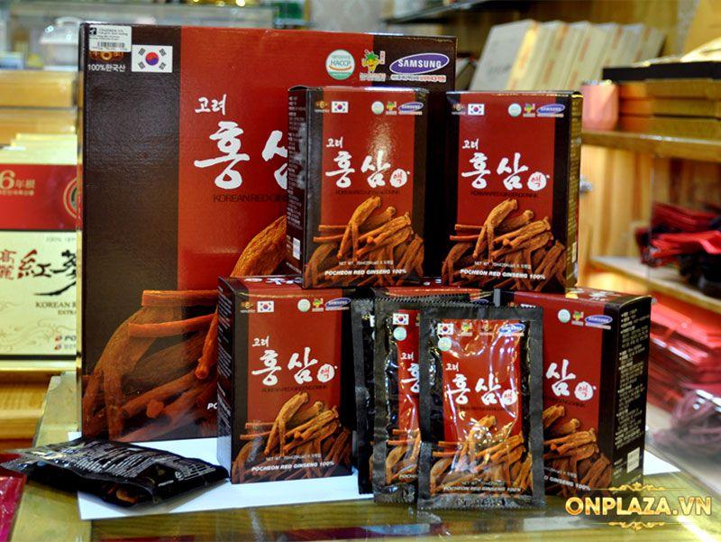 Nước hồng sâm Pocheon Korean Drink cao cấp hộp 30 gói NS838 6