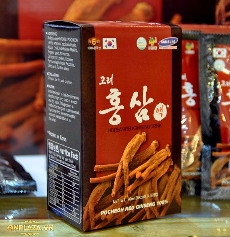 Nước hồng sâm Pocheon Korean Drink cao cấp hộp 30 gói NS838 8